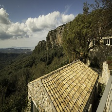 the roof, the view and Castelli Cottage