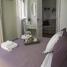 another aspect of the purple double bedroom